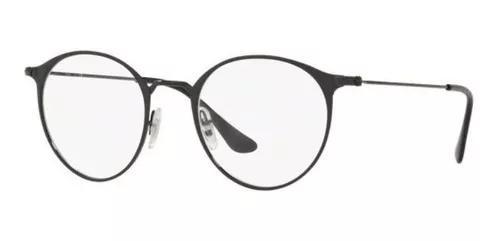 Armação oculos grau ray ban rb6378 2904 49mm preto fosco e