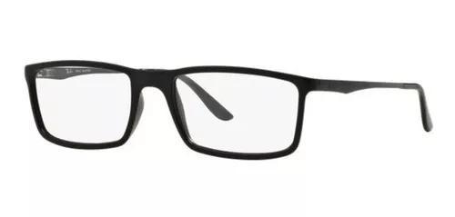 Armação oculos grau ray ban rb7026l 5196 54mm preto fosco