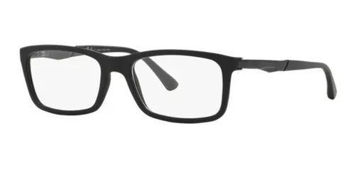 Armação oculos grau ray ban rb7040l 5196 lente 53mm preto