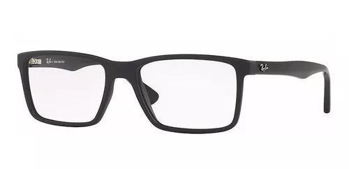 Armação oculos grau ray ban rb7096l 5656 lente 54mm preto