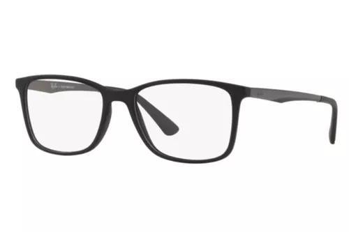 Armação oculos grau ray ban rb7133 5826 55mm preto fosco
