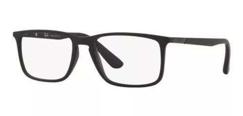 Armação oculos grau ray ban rb7158 5364 56 preto fosco
