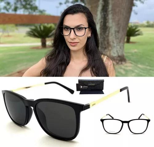 Armação oculos grau sol original osônio os109 solar clip