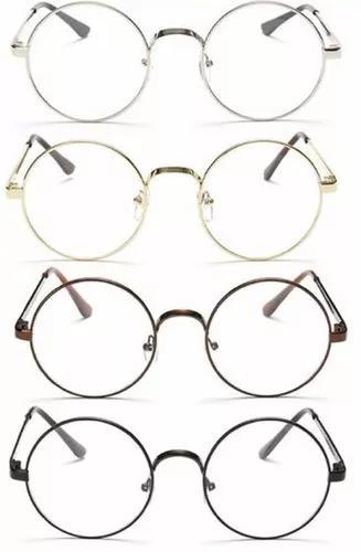 Armação redonda lennon óculos grau harry potter retrô