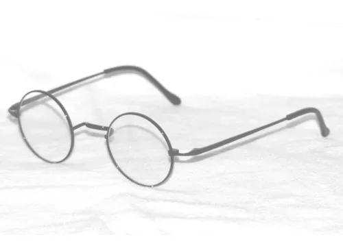 Armação redonda para óculos de grau titânio lentes só