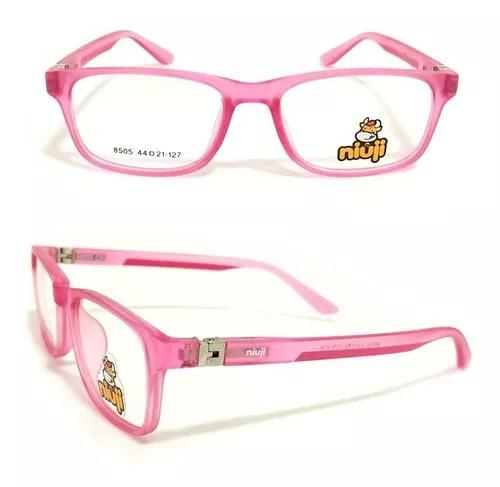 Armação óculos grau infantil flexível tr90 menina niuji