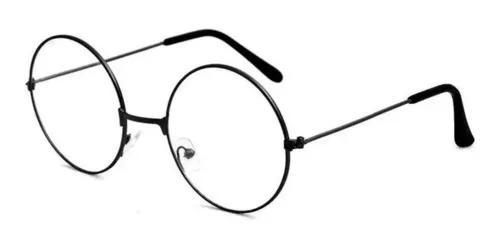 Armação óculos redondo harry potter retro preto unisex