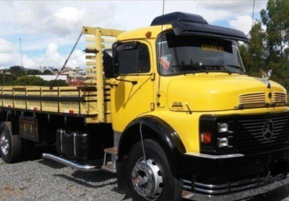 Caminhão mb 1313 ano 1980 truck direção turbo