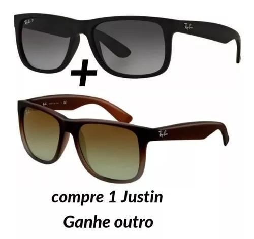 Kit 2 óculos de sol justin rayban oferta top frete grátis