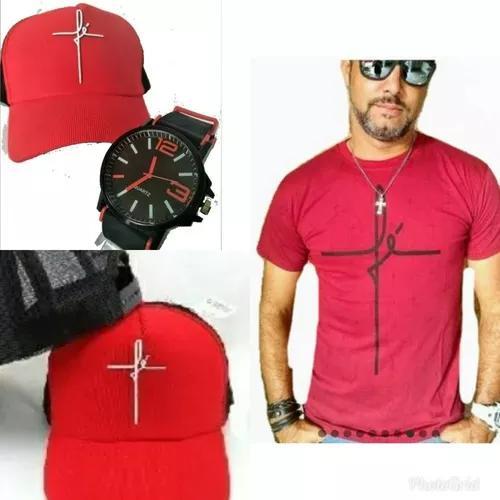 Kit 4 relogios atacado 4 camisetas 4 bones promocao 12 pças
