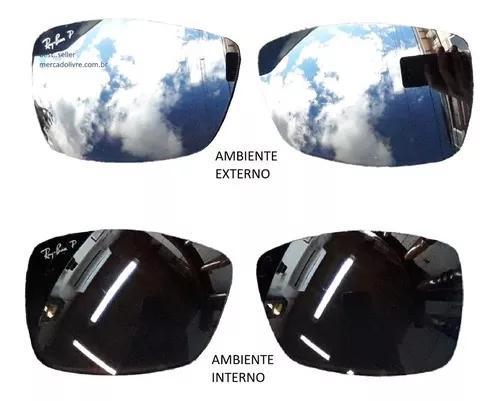 Lente ray ban rb4179 601s82 62 rb 4179 polarizado espelhado