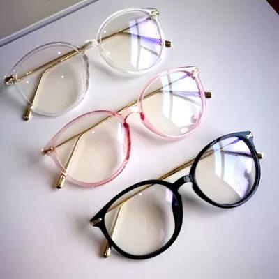 Lindo óculos armação grande redondo com haste de metal