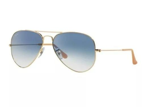 Oculos de sol ray ban aviador azul degrade