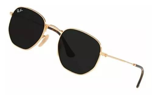 Oculos de sol rayban hexagonal lente preta / envio 24 hs