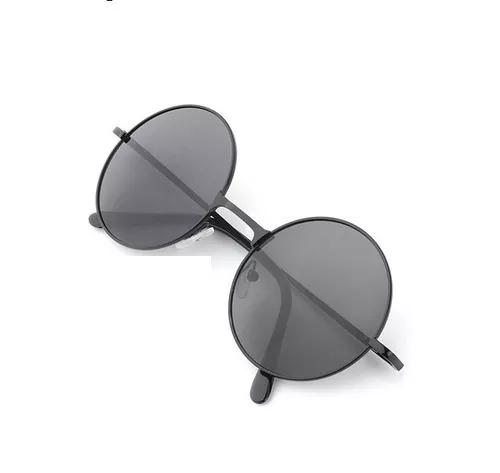 Oculos redondo de sol hd retro polarizado lente espelhadas