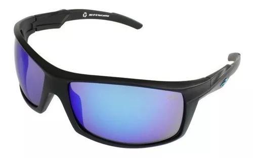 Oculos sol mormaii fenix 38011712 preto fosco lente azul