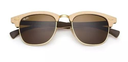 Ray-ban clubmaster rb3016 madeira wood original frete
