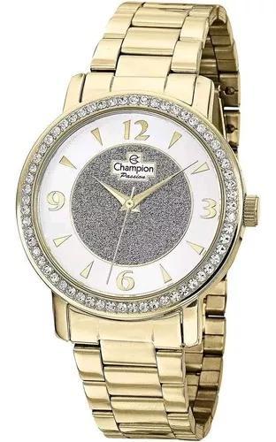 Relógio champion dourado ch24599h f