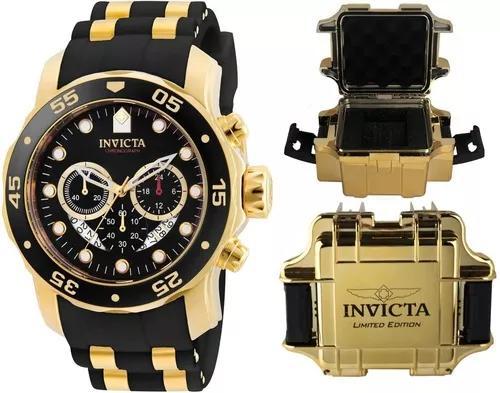 Relógio invicta pro diver 21928 original banhado ouro