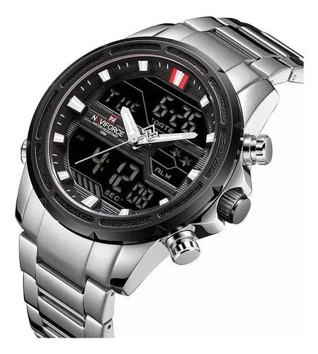 Relógio naviforce 9138s masculino digital esportivo