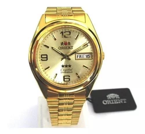 Relógio Orient Dourado Mecânico Automático 3 Estrelas