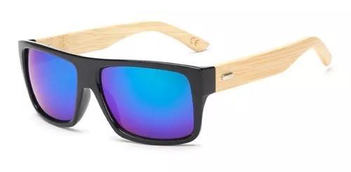 Culos de sol reto madeira hastes bambo masculino