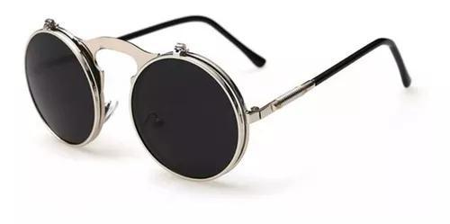 Culos sol redondo circular vintage lente dupla promoção