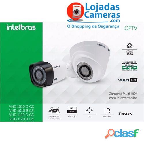 Kit CFTV Completo 04 Câmeras de Segurança Intelbras DVR 4 Canais + 4 Câmeras HD 720p + Acessórios 1