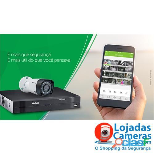 Kit CFTV Completo 04 Câmeras de Segurança Intelbras DVR 4 Canais + 4 Câmeras HD 720p + Acessórios 2