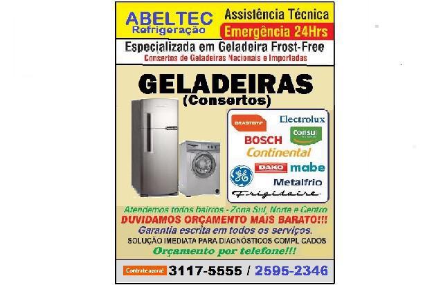 Assistência técnica geladeira de todas marcas
