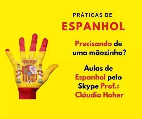 Aulas de espanhol com professor particular a distância