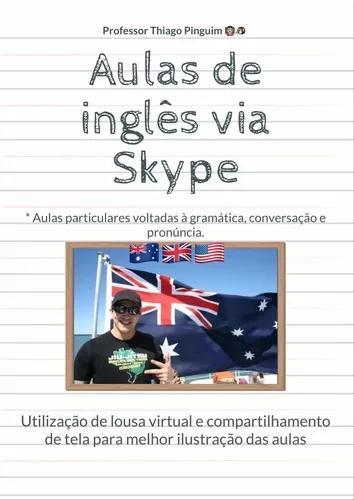 Aulas de inglês via skype