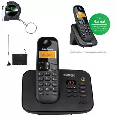 Kit aparelho telefone fixo ts 3130 ramal bina entrada chip
