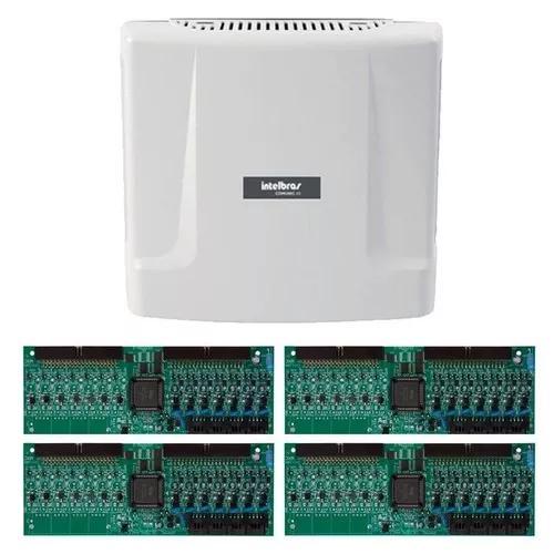 Kit central comunicação intelbras comunic 48 placa 32 ram