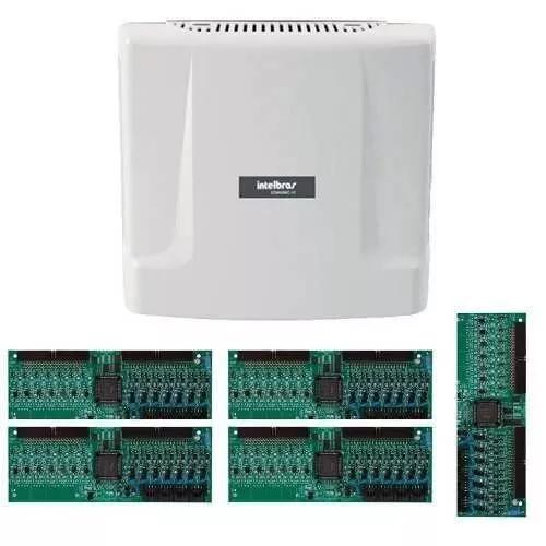 Kit central comunicação intelbras comunic 48 placa 40 ram