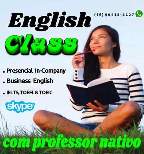 Professor de inglês nativo. aulas de business english,