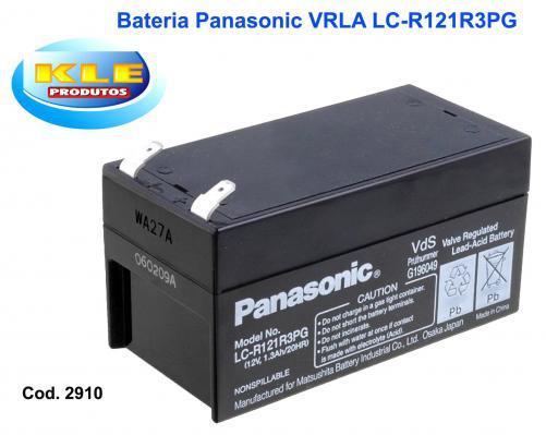 Bateria panasonic vrla 12v/ 1,3 ah - lc-r121r3pg