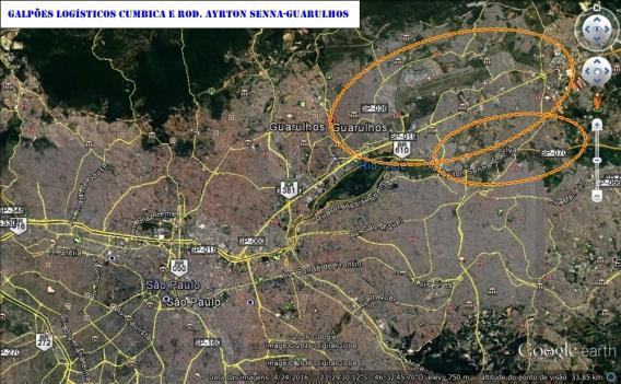 Galpões logísticos na região de cumbica e rodovia ayrton