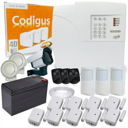 Kit alarme residencial e comercial ppa com discadora e