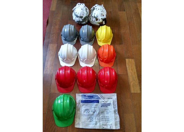 Acessórios de segurança do trabalho lote capacetes,