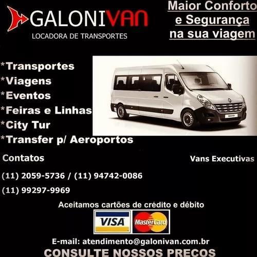 Aluguel de van de 15 e 18 lugares a partir de r$ 200.00