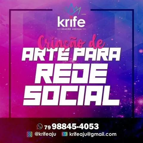 Artes para redes sociais - krife soluções gráficas