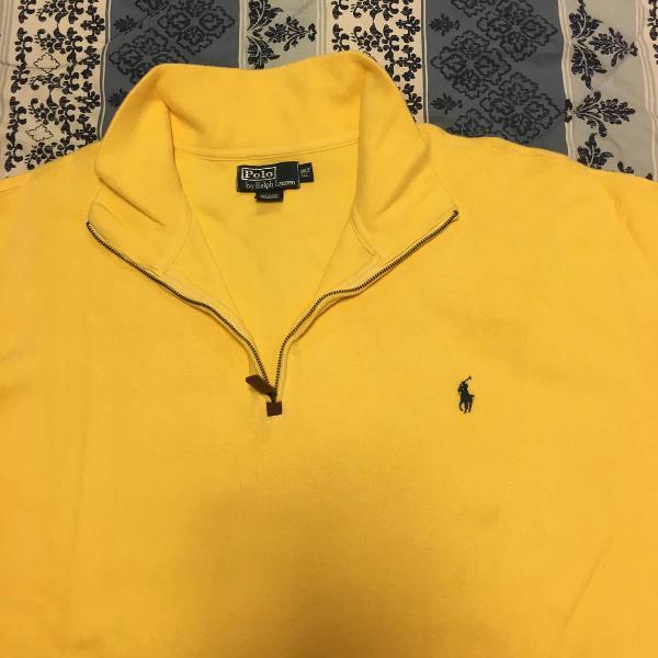 Blusa 100% algodão, amarela, ralph lauren.
