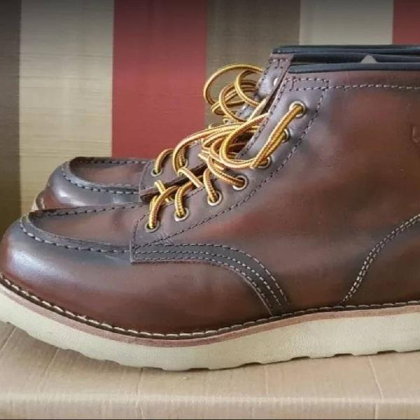 Bota moc toe worker black boots / red wing