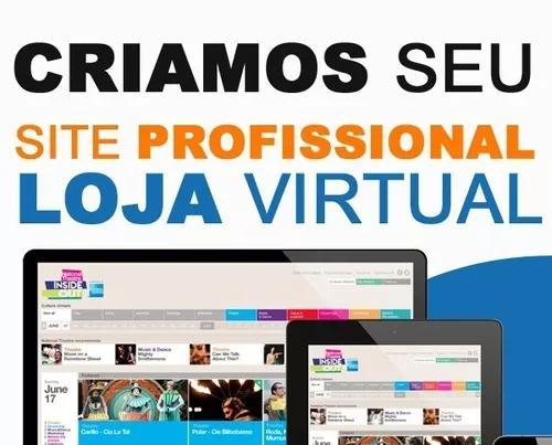 Criação de site, criação de loja virtual profissional