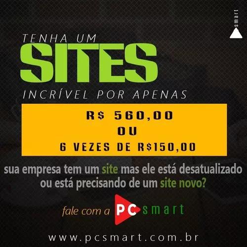 Criação de sites 6 x de r$ 150