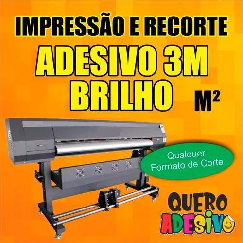 Impressão adesivo 3m brilho com recorte eletrônico - m²