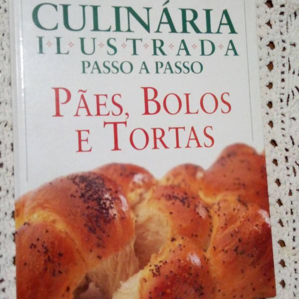 Livro receitas de pães, bolos e tortas