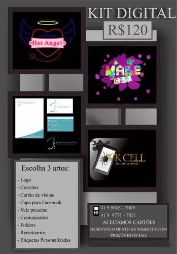 Logomarca + cartão de visita + folder = r$120