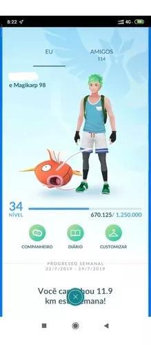 Pokémon go conta lv-34/35